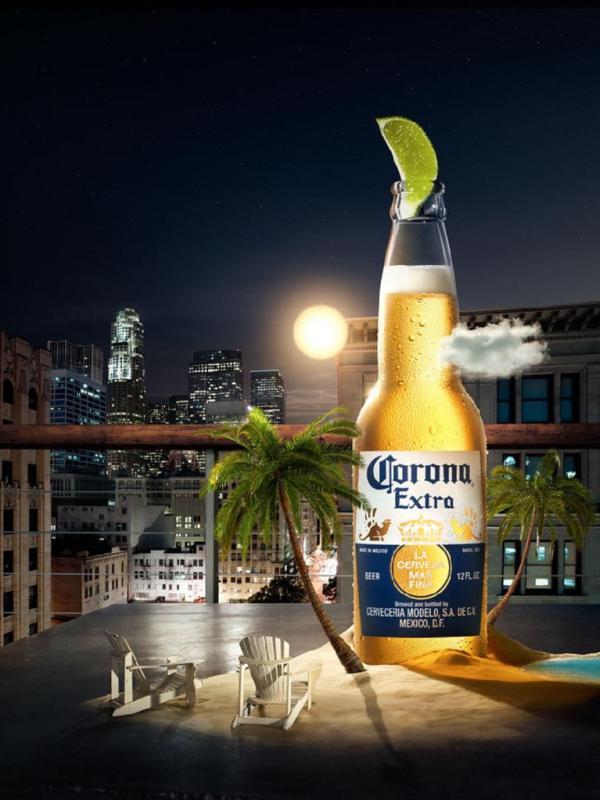 ตัวอย่างสินค้า เบียร์ Corona โคโรน่าเบียร์